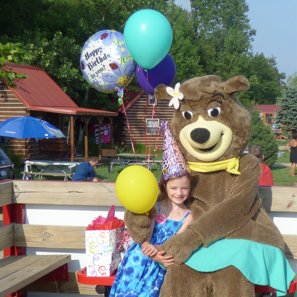 Basic Birthday Party With Cindy Bear | Yogi Bear's Jellystone Park™ Camp-Resort | South Haven, MI
