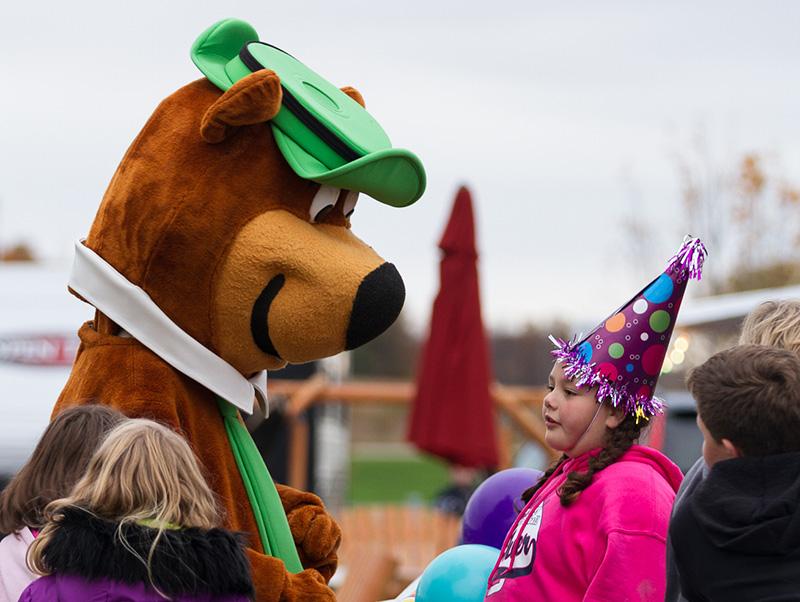 Yogi Bear With Birthday Girl
