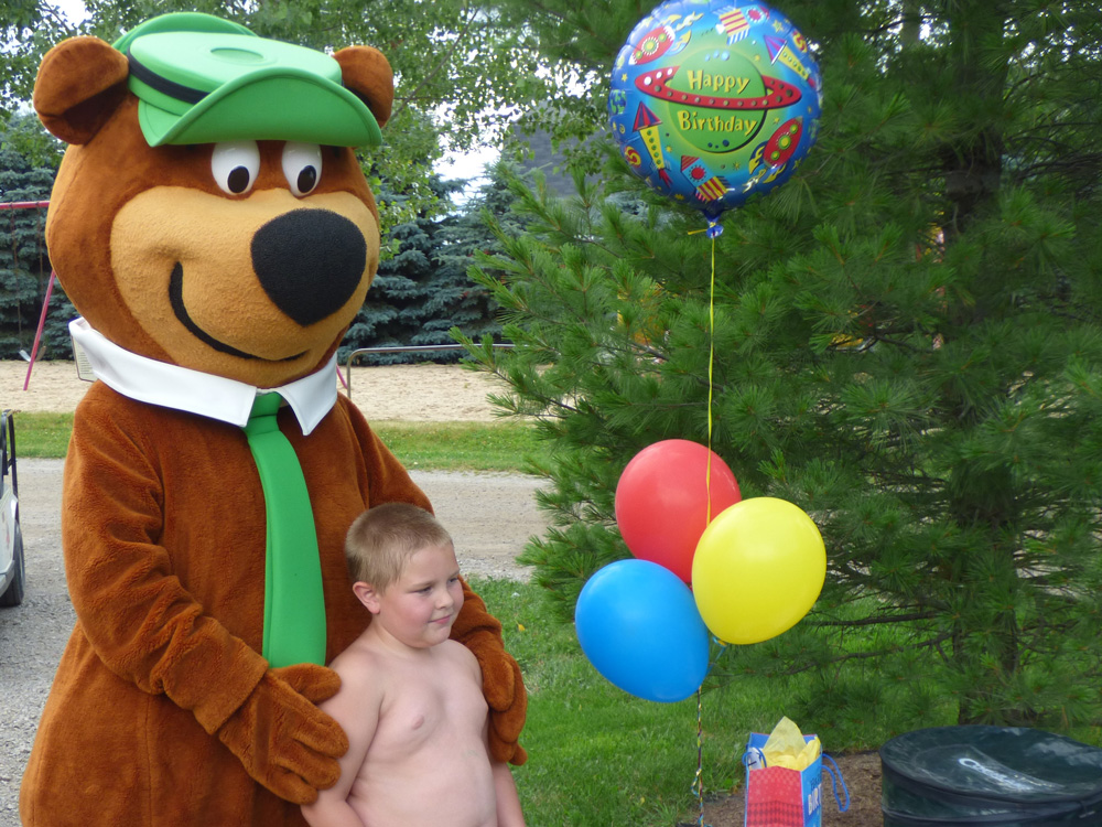 Yogi With Birthday Boy