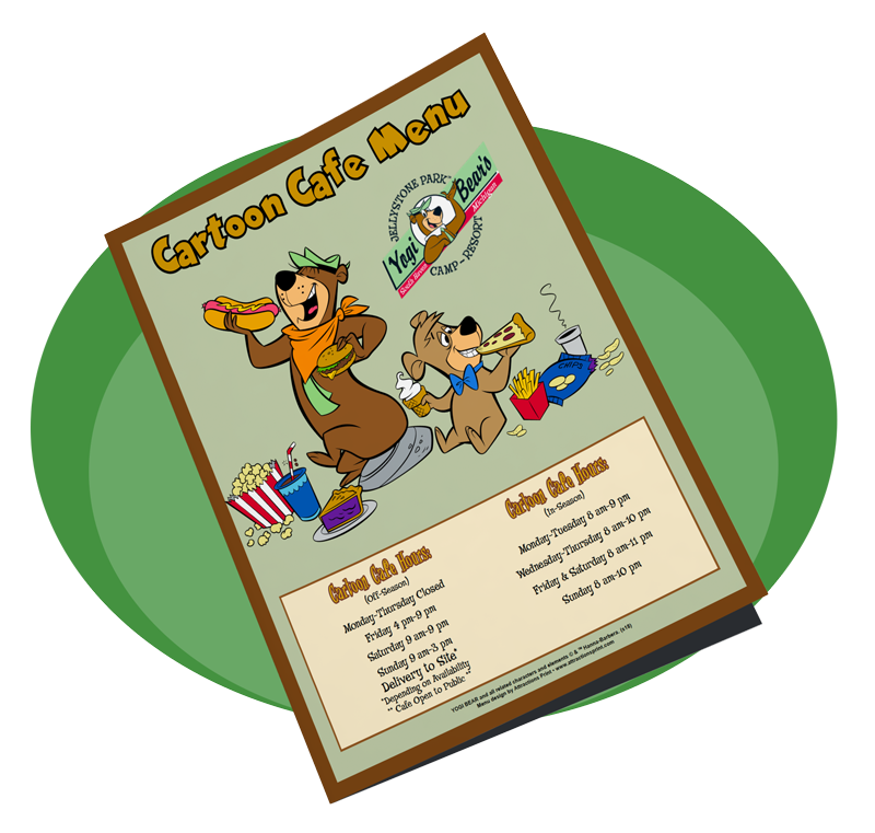 Cartoon Cafe Menu | Yogi Bear's Jellystone Park™ Camp-Resort | South Haven, MI
