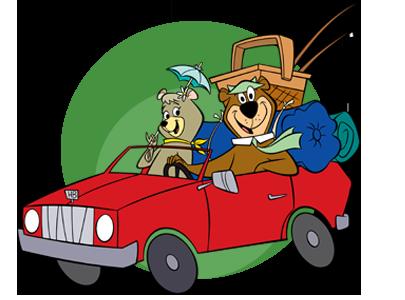 Cindy & Yogi In Car