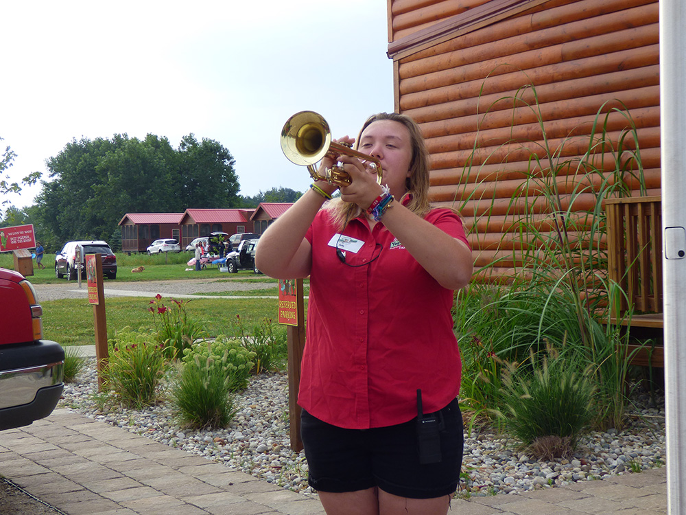 Trumpet Playing Employee | Yogi Bear's Jellystone Park™ Camp-Resort | South Haven, MI