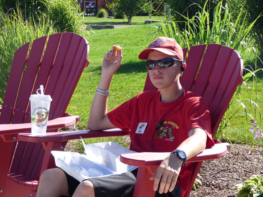 Employee In Chair | Yogi Bear's Jellystone Park™ Camp-Resort | South Haven, MI
