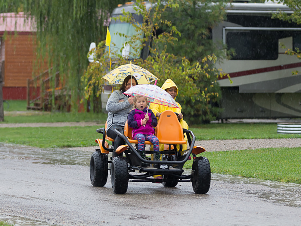 Family Fun Kart In Rain | Yogi Bear's Jellystone Park™ Camp-Resort | South Haven, MI