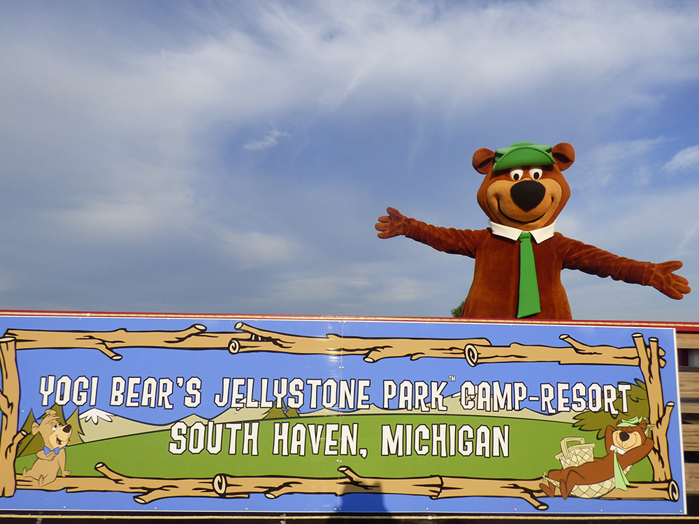 Yogi Beat & Park Sign | Yogi Bear's Jellystone Park™ Camp-Resort | South Haven, MI