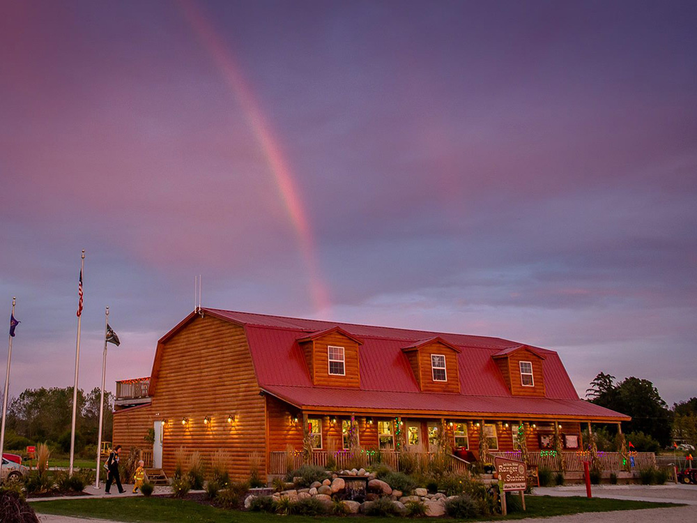 Rainbow over Ranger Station | Yogi Bear's Jellystone Park™ Camp-Resort | South Haven, MI