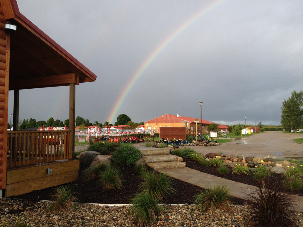 Rainbow Over Campground | Yogi Bear's Jellystone Park™ Camp-Resort | South Haven, MI