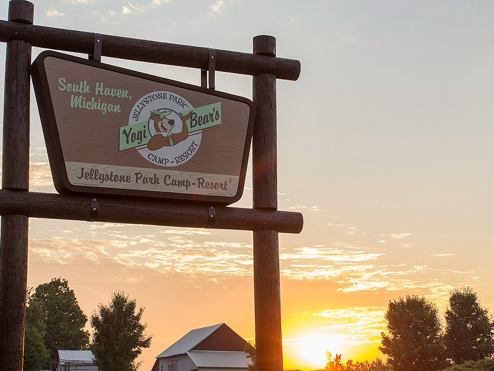 Campground Sign | Yogi Bear's Jellystone Park™ Camp-Resort | South Haven, MI