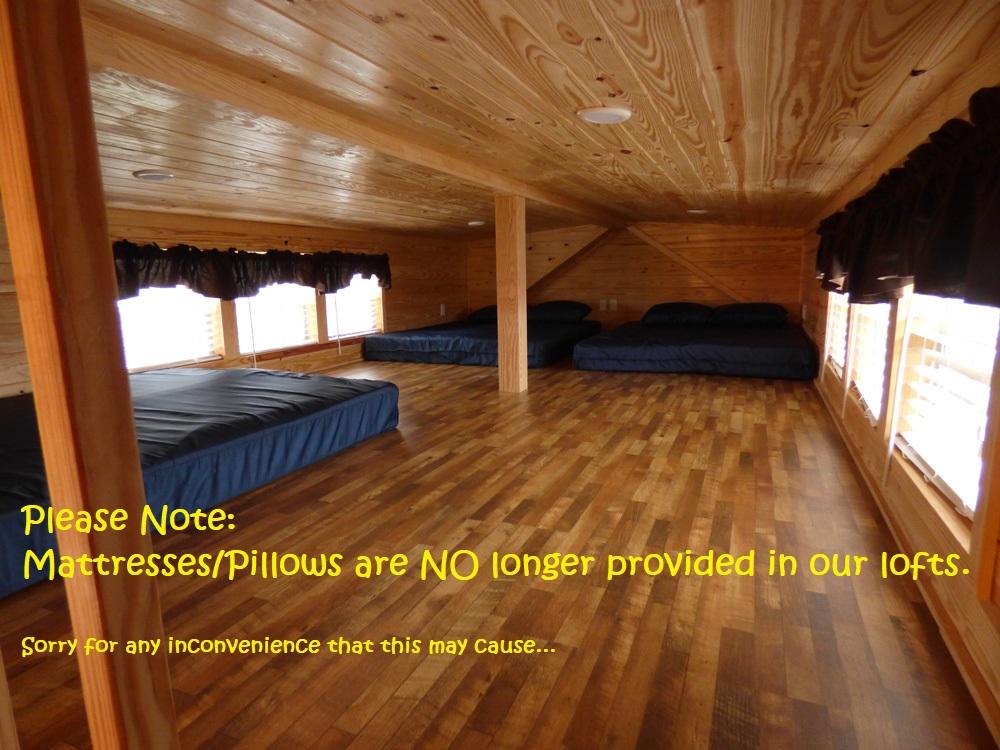No Mattress Pillows in Lazy Bear Loft