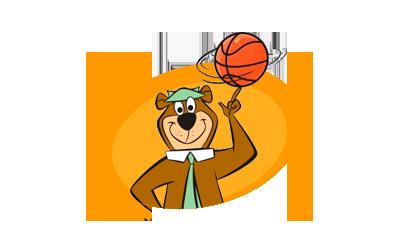 Yogi Spinning Basketball