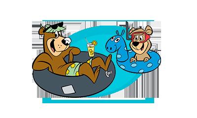 Yogi & Boo Boo In Pool Tubes