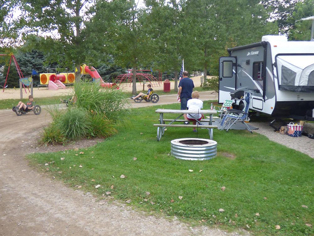 Pop Up Tent Site   Yogi Bear's Jellystone Park™ Camp-Resort   South Haven, MI