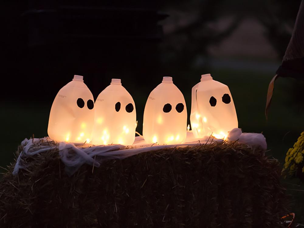 Halloween Ghost Milk Jugs