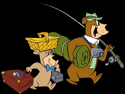 Yogi and Boo-Boo Fishing